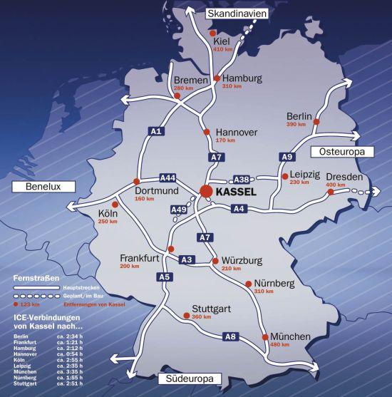 Wirtschaftsförderung Region Kassel Verkehrsanbindung